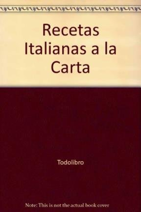 Recetas italianas.: Duroy, Chantal