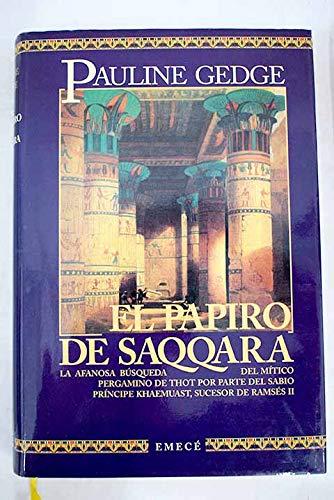 9788478881949: El papiro de saqqara