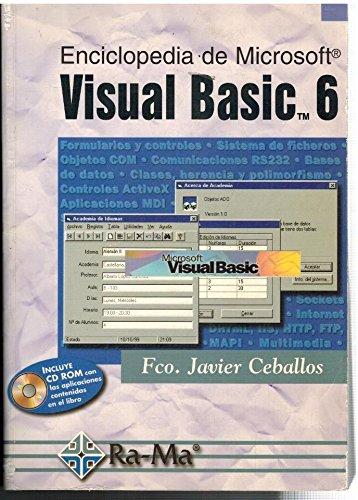 9788478973866: Enciclopedia de Microsoft Visual Basic 6.