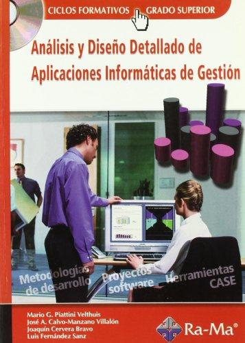 9788478977765: Análisis y diseño detallado de aplicaciones informáticas de gestión (Incluye CD)