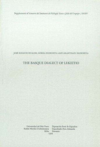 THE BASQUE DIALECT OF LEKEITIO: HUALDE, J. L.