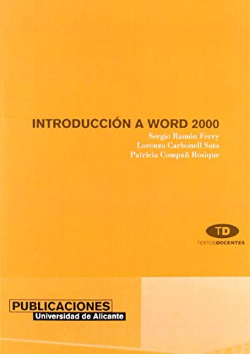 9788479085759: Introduccion a Word 2000 / Introduction to Word 2000 (Spanish Edition)