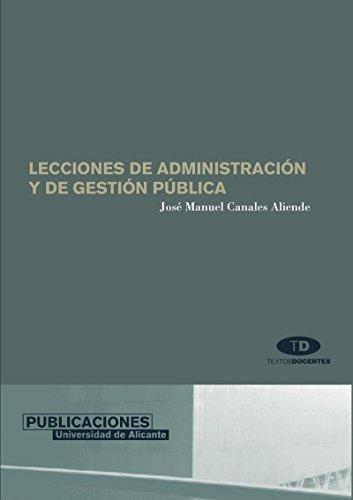 9788479086732: LECCIONES DE ADMINISTRACION Y GESTION PUBLICA