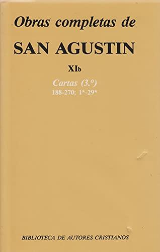 9788479140526: Obras completas de San Agustín. XIb: Cartas (3.º): 188-270 (NORMAL)