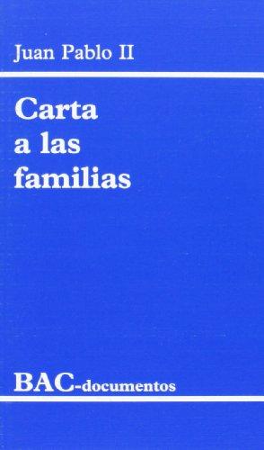 9788479141226: Carta a las familias: 1994 año de la familia (DOCUMENTOS)