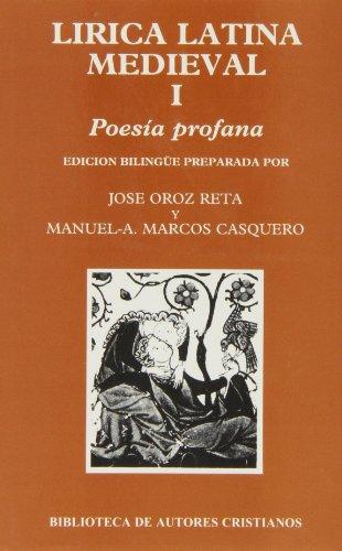 9788479141707: Lírica latina medieval. I: Poesía profana: 1 (NORMAL)