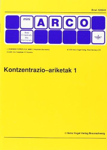 9788479170424: Kontzentrazio Ariketak 1
