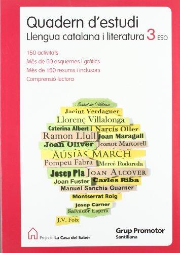 9788479186654: Quadern D'Estudi Llengua Catalana I Literatura 3 Eso La Casa Del Saber Catalan Grup Promotor