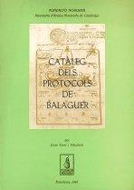 9788479350499: Catàleg dels protocols de Balaguer (Fundació Noguera)