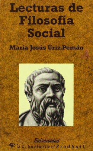 Lecturas De Filosofia Social: Maria Jesus Uriz
