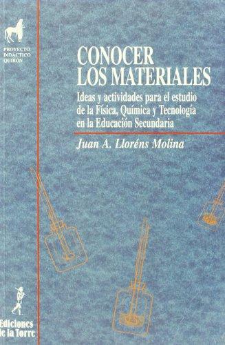 9788479601386: Conocer los materiales.