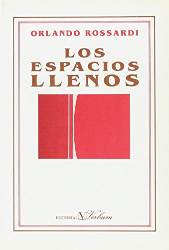 9788479620097: Los espacios llenos (Verbum poesía) (Spanish Edition)