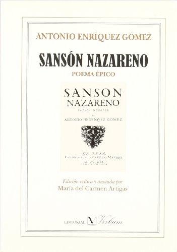 Sanso?n nazareno: Poema e?pico (Ensayo) (Spanish Edition): Enri?quez Go?mez, Antonio