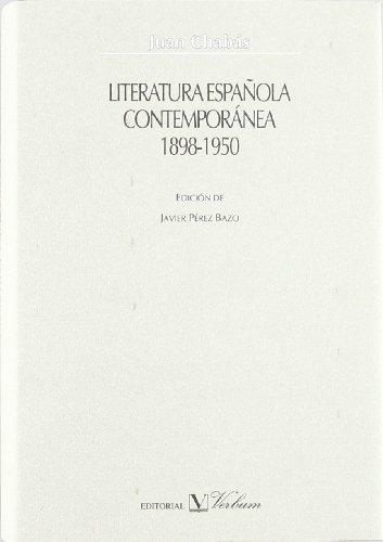 9788479622015: Literatura española contemporánea, 1898-1950 (Verbum Mayor)