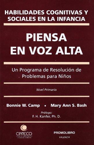 9788479862527: Piensa En Voz Alta - Habilidades Cognitivas Y Sociales En La Infancia