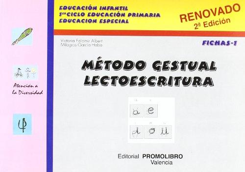 9788479863678: Metodo gestual lectoescritura fichas 1 (2ªed.) (Atencion A La Diversidad)