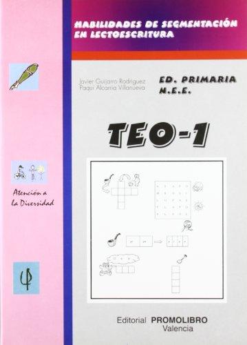 9788479864880: TEO-1. Habilidades Segmentación Lectoescritura