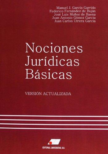 9788479913700: Nociones jurídicas básicas