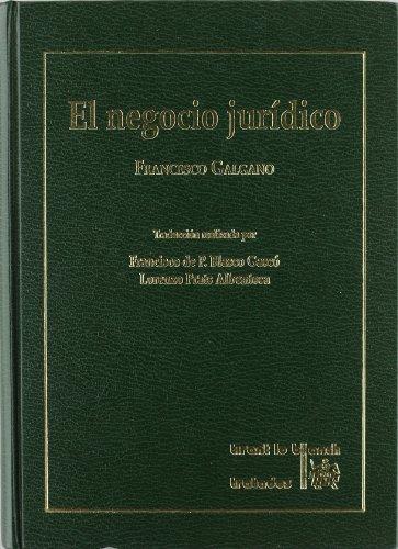 9788480020602: El negocio jurídico (T) (1992)