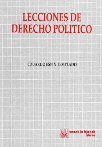 9788480021838: Lecciones de derecho politico (Spanish Edition)