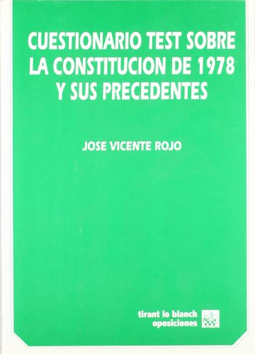 9788480022224: Cuestionario test sobre la Constitución de 1978 y sus precedentes