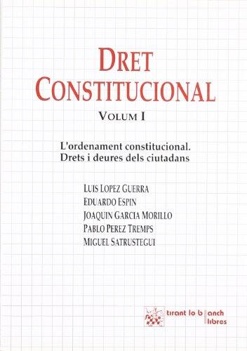 9788480022569: Dret Constitucional I