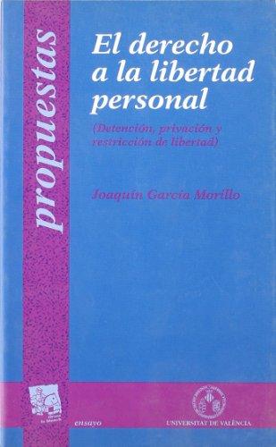 9788480022842: El derecho a la libertad personal