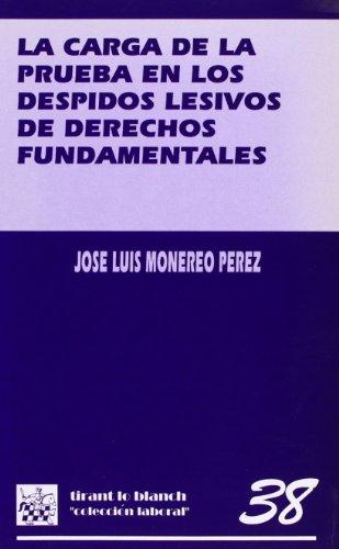9788480024105: La carga de la prueba en los despidos lesivos de derechos fundamentales (Coleccion laboral) (Spanish Edition)