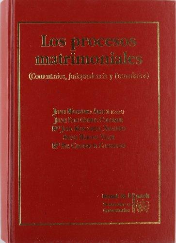9788480024235: Los procesos matrimoniales. Comentarios, jurisprudencia y formularios.