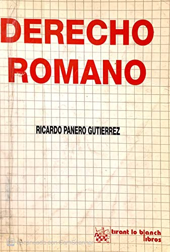 9788480025232: Derecho romano (Spanish Edition)