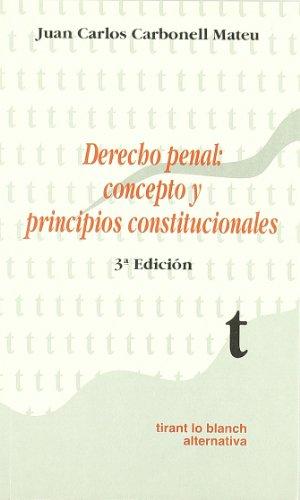 9788480028158: Derecho penal: Concepto y principios constitucionales