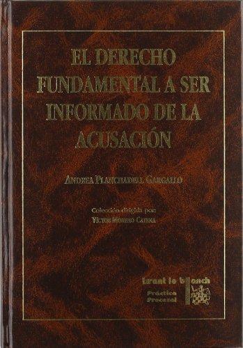 9788480028745: Derecho Fundamental a ser Informado de la Acusacion
