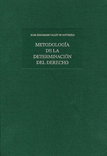 9788480041089: METODOLOGIA DE LA DETERMINACION DEL DERECHO: PARTE HISTORICA