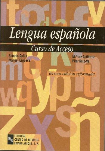 9788480043809: LENGUA ESPAñOLA, CURSO DE ACCESO