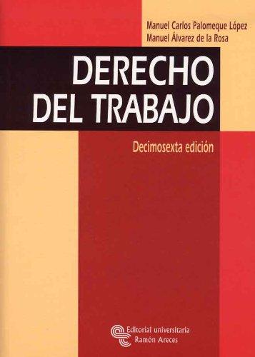 9788480048613: Derecho Del Trabajo (Manuales)