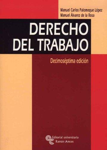 9788480049344: Derecho del trabajo (Manuales)