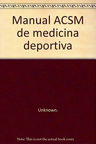 9788480193412: Manual acsm de medicina deportiva