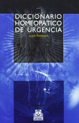 9788480193924: DICCIONARIO HOMEOPÁTICO DE URGENCIA (Medicina)