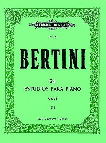 24 estudios para piano: Bertini, E.