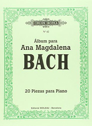 9788480203562: Álbum para Ana Magdalena Bach: 20 piezas para piano - 9788480203562