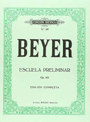 9788480203630: Escuela preliminar Op.101