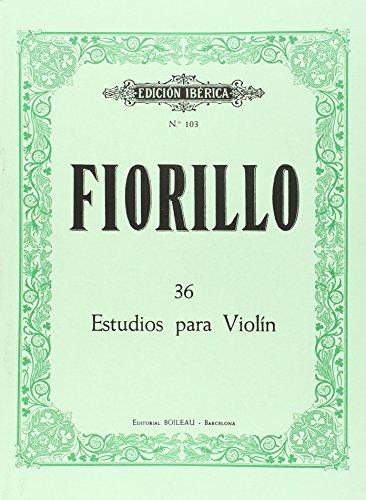36 Estudios para violín: Fiorillo, Federigo