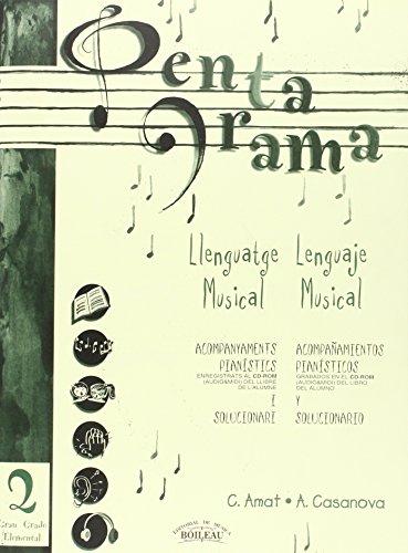 9788480206280: Pentagrama II Llenguatge Musical Acompanyament / Lenguaje Musical Acompañamiento: Acompanyaments pianístics i Solucionari / Acompañamientos ... Musical Acompanyament/Acompañamiento)