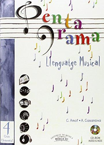 9788480206709: Pentagrama IV Llenguatge Musical Elemental: Grau Elemental (Pentagrama Llenguatge Musical 4)