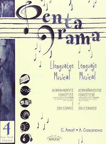 9788480206723: Pentagrama IV Llenguatge/Lenguaje Acomp. Piano Ele (Pentagrama Llenguatge/Lenguaje Musical Acompanyament/Acompañamiento)