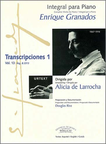 9788480206877: Integral para piano Enrique Granados: Transcripciones 1: 13
