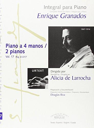 Integral para piano Enrique Granados: Piano a: Granados, Enrique