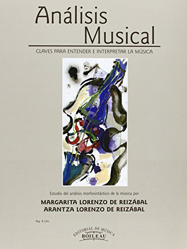 9788480207553: ANALISIS MUSICAL:CLAVES ENTENDER LA MUSICA.(REF:B.3261)