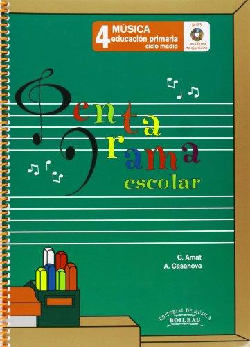 9788480208222: Pentagrama Escolar Música 4: Educación Primaria. Ciclo Medio - 9788480208222