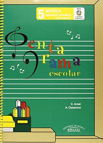 9788480208475: Pentagrama Escolar 5 - Català (Llibre + CD + Quadern d'exercicis)